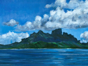 Bora Bora couronnee de nuages