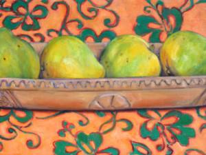 Umete mangues tissus orange