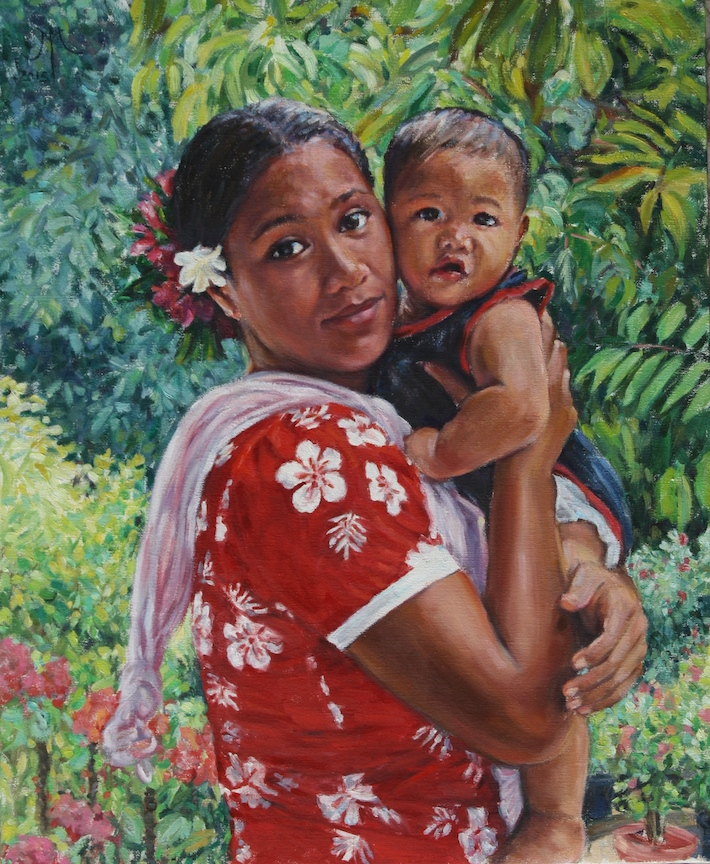 Maohi Madonna 2015 24x20in