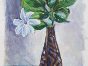 Tiare flower tall vase 2015
